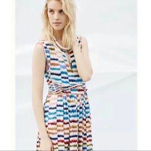 Anthropologie Maeve Rainbow Sennebec Jersey Dress